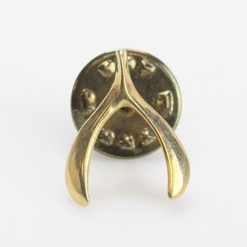 13k Gold 1.54g Wishbone Pin