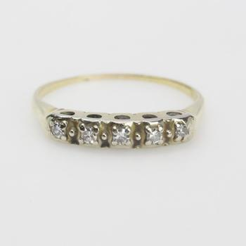13k Gold 1.75g Ring With Diamonds