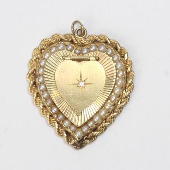 13k Gold 17.81g Heart Pendant