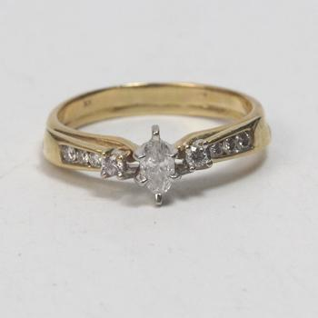 13k Gold 4.41g Diamond Ring