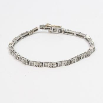 13k White Gold 9.41g Bracelet With Diamonds