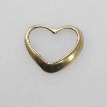 13kt Gold 0.33g Heart Shaped Pendant