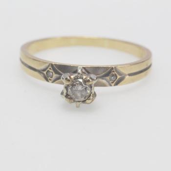 13kt Gold 2.3g Diamond Ring