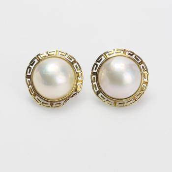 13kt Gold 7.03g Pair Of Pearl Earrings