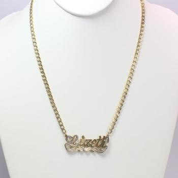 13kt Gold 9.68g Necklace With 'Lizeth' Pendant