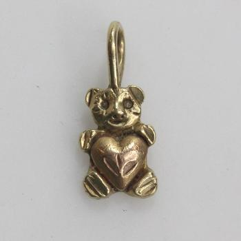 13kt Two-toned Gold 1g Teddy Bear Pendant