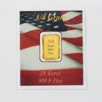 1/4 Gram 24kt Gold 999.9 Fine Bullion