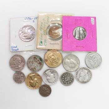 14 US Coins - Includes 2 Silver