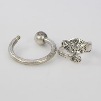 14.33g Silver Jewelry, 2 Pieces