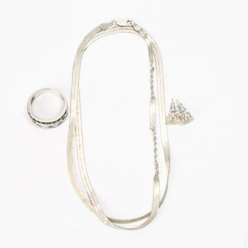 14.90g Silver Jewelry, 4 Pieces