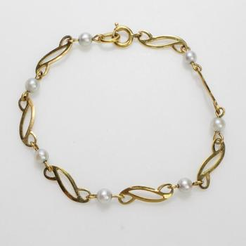 14k GF 3.64g Bracelet With Pearls