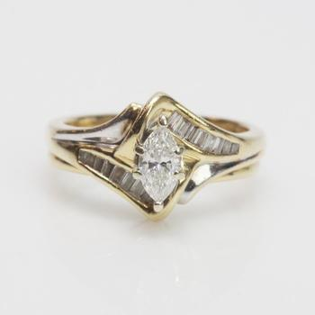 14k Gold 0.72ct TW Diamond Ring - Evaluated By Independent Specialist