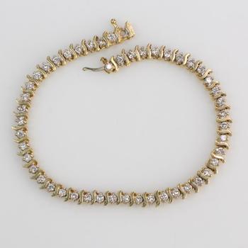 14k Gold 10.00g Diamond Bracelet
