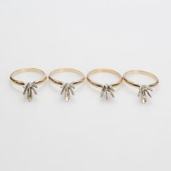 14k Gold 10.42g Rings, 4 Pieces
