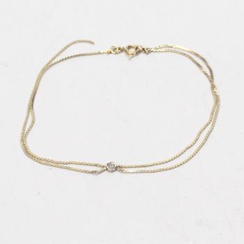 14k Gold 1.07g Bracelet With Diamond Accent