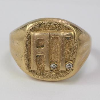14k Gold 10.96g Ring With Diamond Accents