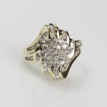 14k Gold 1.13ct TW Diamond Ring - Evaluated By Independent Specialist
