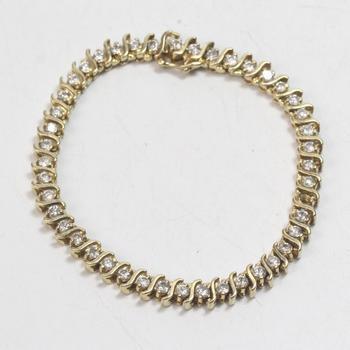 14k Gold 16.38g Diamond Bracelet