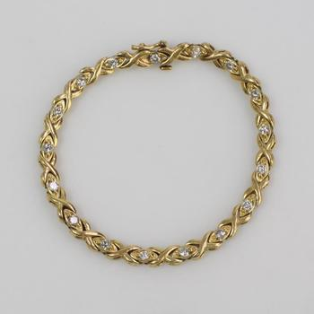 14k Gold 18.07g Bracelet With Diamonds