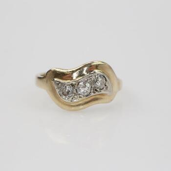 14k Gold .18ct TW Diamond Ring