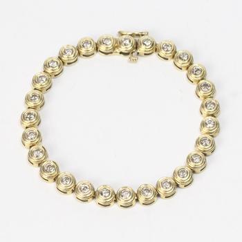 14k Gold 20.81g Bracelet With Diamonds