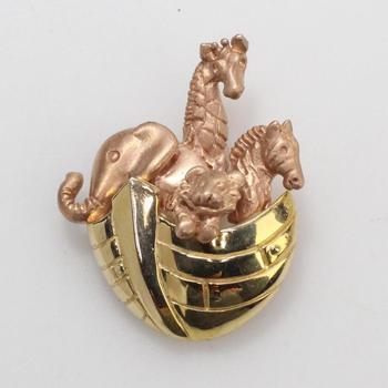 14k Gold 3.90g Noah's Ark Pendant