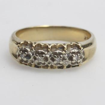 14k Gold 4.47g Ring With Diamond Accents