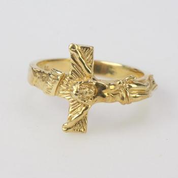 14k Gold 4.58g Religious Ring
