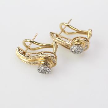 14k Gold 4.61g Diamond Earrings
