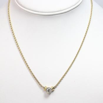 14k Gold 7.64g Necklace With Diamond Pendant