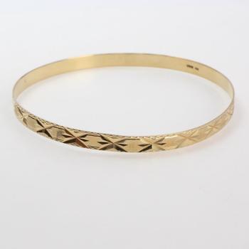 14k Gold 7.93g Bangle Bracelet