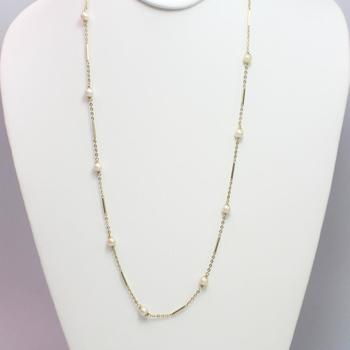 14k Gold 8.25g Necklace With Pearls