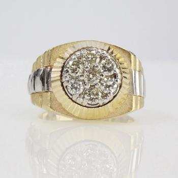 14k Gold .84ct TW Diamond Rolex Style Ring - Evaluated By Independent Specialist