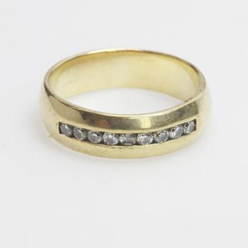 14k Gold 8.61g Ring With Diamonds