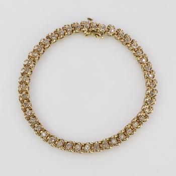 14k Gold 9.86g Diamond Bracelet