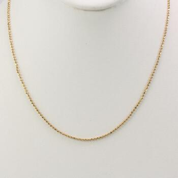 14k Gold Bead Link Necklace