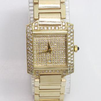 14k Gold Diamond Dress Watch - Evaluated By Independent Specialist