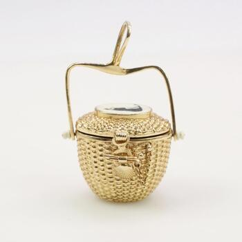 14k Gold Diana Kim England Nantucket Basket Pendant