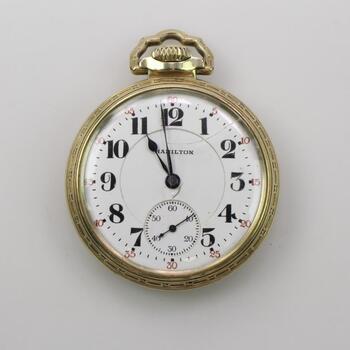 14K Gold Filled Hamilton Pocket Watch