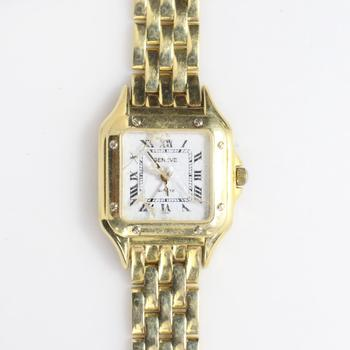 14k Gold Geneve Quartz Watch