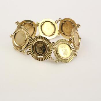 14k Gold Panel Bracelet