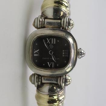 14k Gold Sterling Silver David Yurman Cable Watch