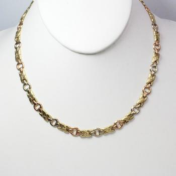 14k Tricolored Gold 13.40g Necklace