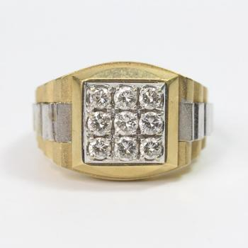 14k Two-Toned Gold 14.08g Ring With Diamonds