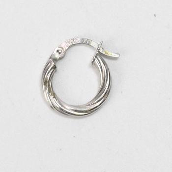 14k White Gold 0.44g Hoop Earring