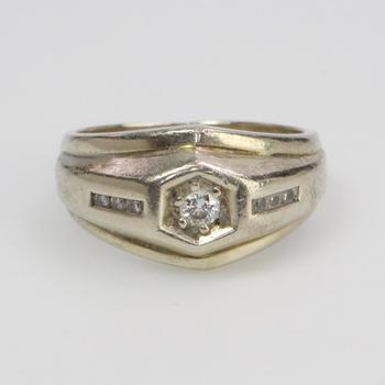 14k White Gold 10.42g Diamond Ring