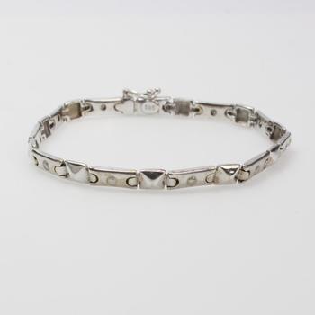 14k White Gold 11.39g Bracelet With Diamond Accents