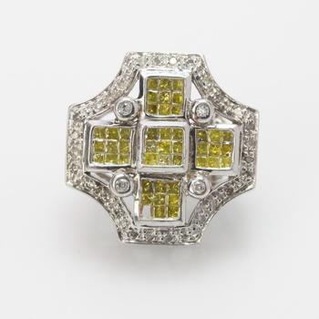 14k White Gold 1.53ct TW Diamond Earring