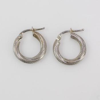 14k White Gold 1.67g Earrings