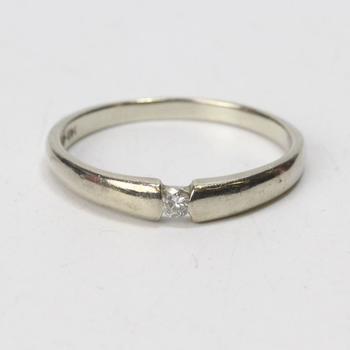 14k White Gold 2.16g Ring With Diamond